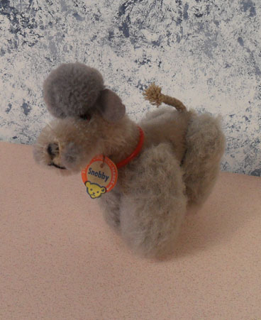 1956-58 5310gr Steiff Grey Snobby Poodle, chest tag only. 5310 $47.50
