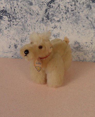 1956-58 5310w 10cm Steiff White Snobby Poodle, no ear tags. $47.50