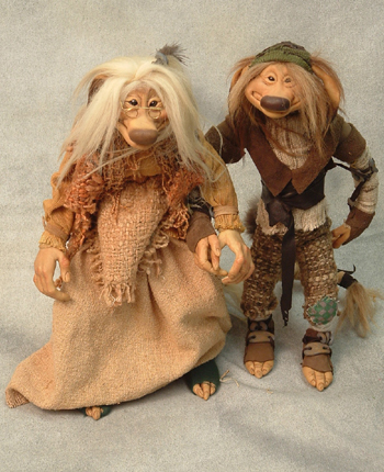 "12"" Wendy Froud Male and Female Troll $1760.00 pair"
