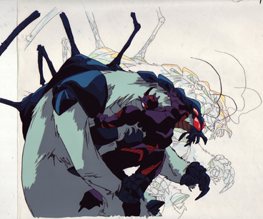 Guyver III vs Enzime II production cel and drawing from Guyver $35.00
