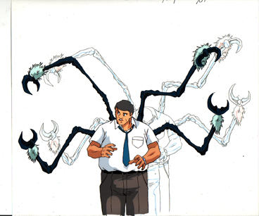 Enzime II transforming from Guyver, production cel and drawing $35.00
