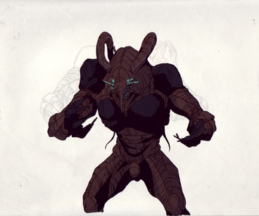 Gregole from Guyver, production cel and drawing $35.00