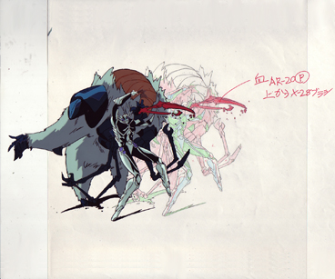 Proto Zoalord vs Enzime II production cel and drawing from Guyver $35.00