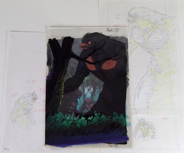 Broiz Zoaform from Guyver, production cel and drawing $35.00