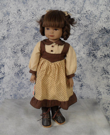 Maya is an early molded hand 20 inch doll painted by Heidi Ott in Switzerland $395.00