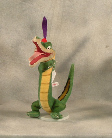 Steiff Ben Alligator from Fantasia 2000 set limited to one year production. Sequentially numbered. $500.00
