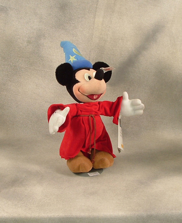Steiff Mickey Sorcerer from Fantasia 2000 set limited to one year production. Sequentially numbered. $500.00